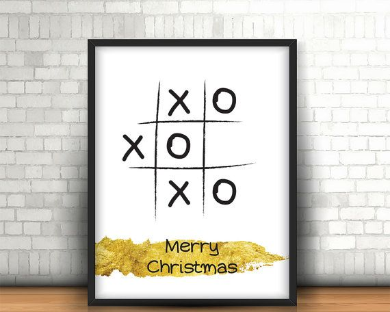 Christmas printable wall art decor 'xoxoxo by BeePrintDesigns