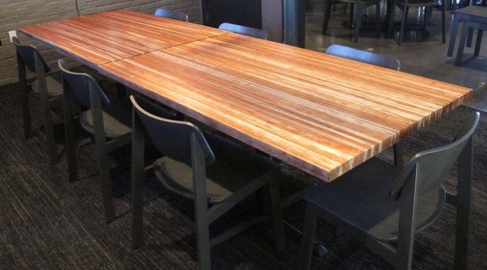 Urban Industrial Cherry Butcher Block Restaurant Tables
