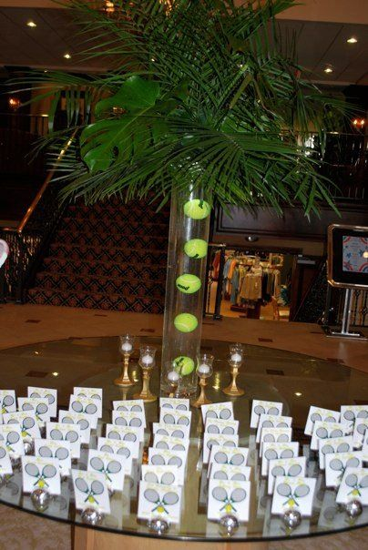Tennis Theme Bar Mitzvah Event Decor Party Perfect Boca Raton, FL 1(561)
