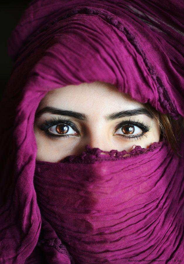 Armenian eyes under arabian cover by SahaNa Photographer on 500px