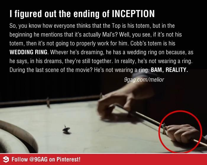 Inception Wedding Ring Last Scene