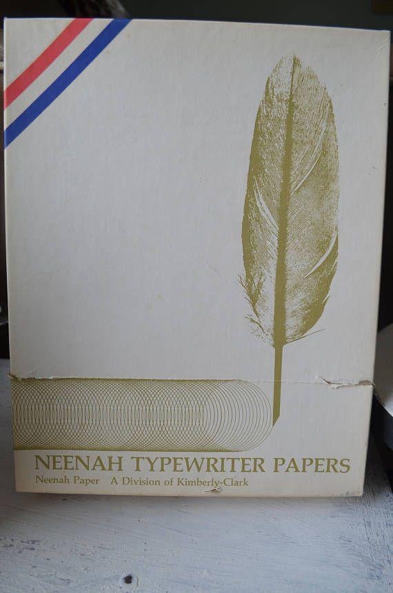 Neenah typewriter papers vintage typewriting paper