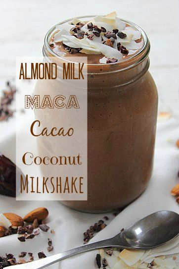 PMS Maca Cacao Milkshake Smoothie found at http://peachypalate.com/2013/12/30/pms-maca-cacao-milkshake-smoothie/