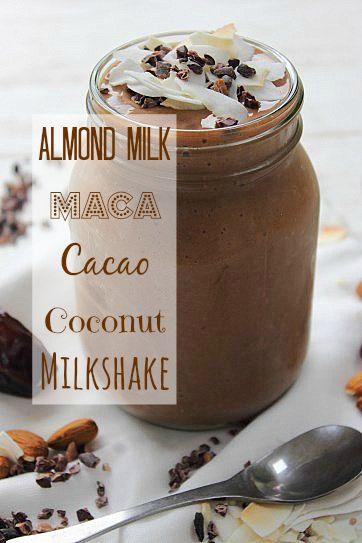 PMS Maca Cacao Milkshake Smoothie!