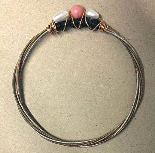Guitar String Beaded Bangle by KinleysDesigns on Etsy