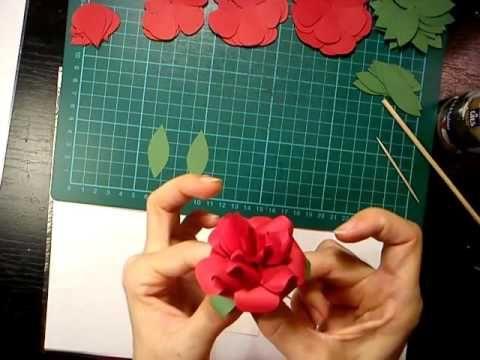 #pirosrózsa7-2##papír##rózsa##videó##diy##oktatóvideó##ajándék##dísz##alkotásmánia#