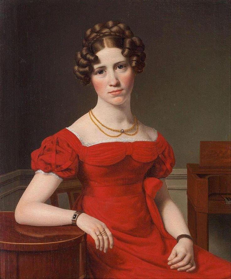 Christoffer Wilhelm Eckersberg, Portrait of Louise Christiane Fugl, 1825