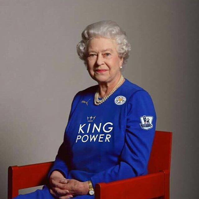 It's official! The Queen is a Leicester fan! Thank you, your highness! #LCFC. Haha, whoever did this