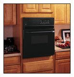 "GE - 24"" Built-in Single Electric Wall Oven - Black"