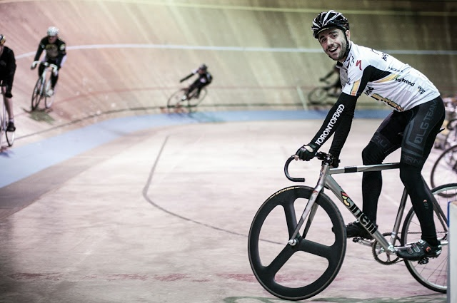 The Fixed Gear World, where the fixed gear rider meets their passion.  Photo at Forest City Velodrome, London, ON