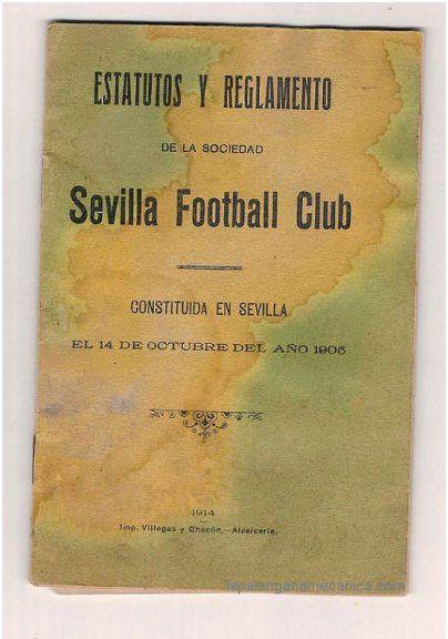 Primeros Estatutos conocidos del Sevilla FC