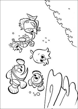 95 best Nemo images on Pinterest Birthdays, Ideas para fiestas and - fresh coloring pages of nemo and friends