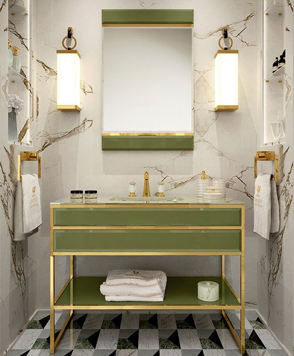 Academy Luxury Bathroom Collection Features Deco Design Inspiration In Hand  Made Vanities, Cabinets And Accessories, Marble Tops, Geometric Decorations  And ...