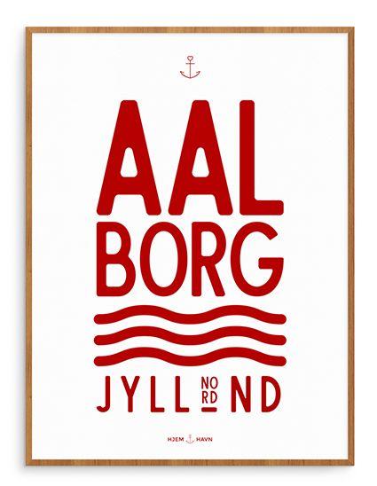 City of Aalborg denmark poster Aalborg plakat. Now on sale! only 129,- DKR