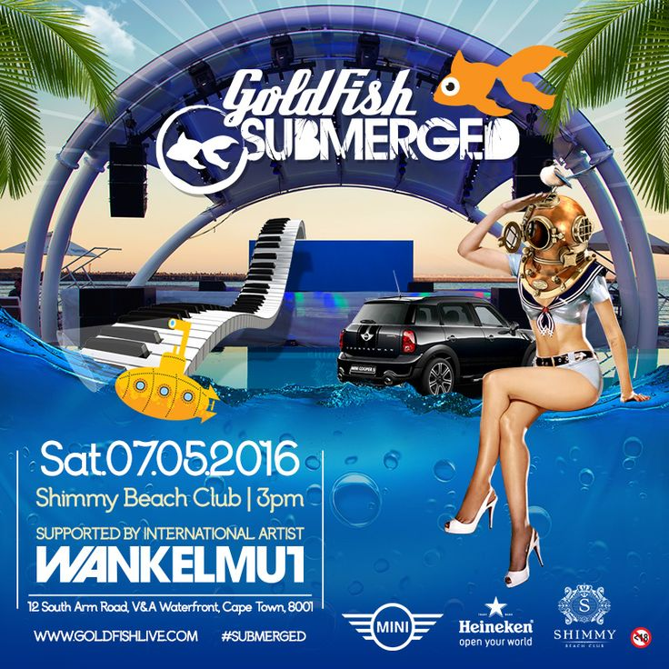 Goldfish will perform one last 'Submerged' concert featuring German headliner, Wankelmut on Saturday 7 May 2016 - brought to you by Mini and Heineken.