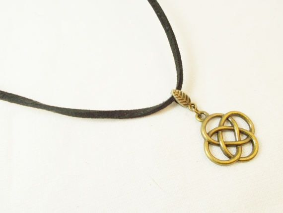 Celtic knot choker infinity circle black by 10dollarjewellery #celticknot #irish #choker #modernjewel