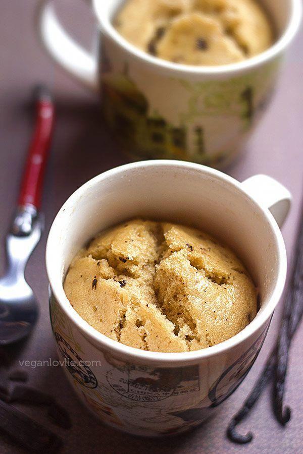 A simple one bowl vegan vanilla mug cake that neither ...