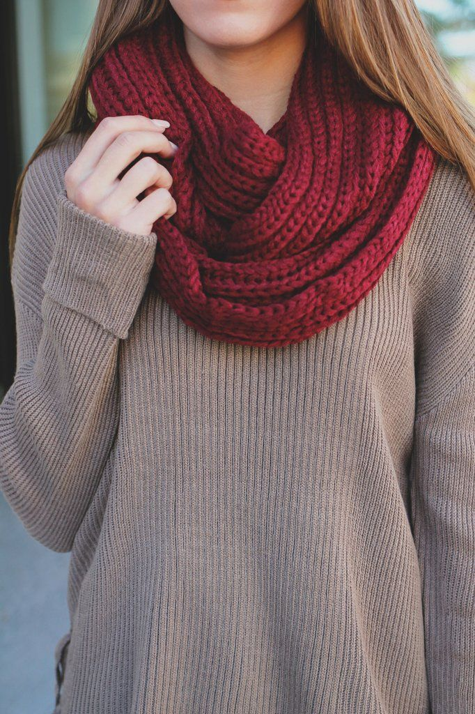 Chunky Knit Infinity Scarf – UOIOnline.com: Women's Clothing Boutique