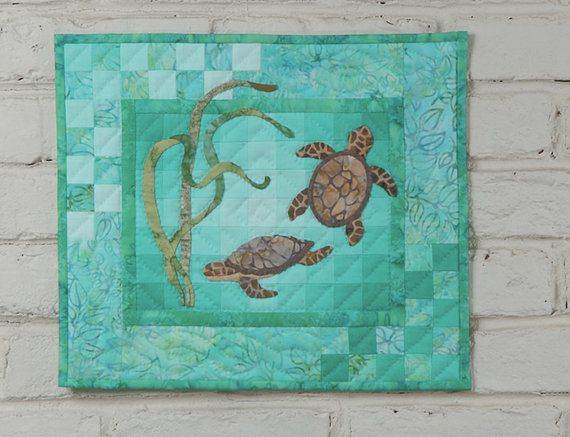 Turtles Wall Quilt Kit Block Of The Month Hand Applique