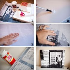 Transfer a photo to canvas... Really works! I have to try this!!!!!