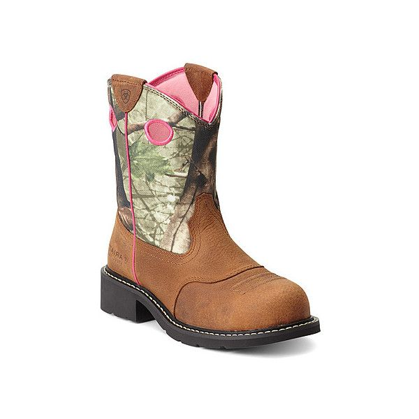 Ariat Fatbaby Cowgirl Steel Toe (£72) ❤ liked on Polyvore featuring shoes, boots, men, cowgirl boots, western boots, western cowboy boots, western cowgirl boots and western riding boots