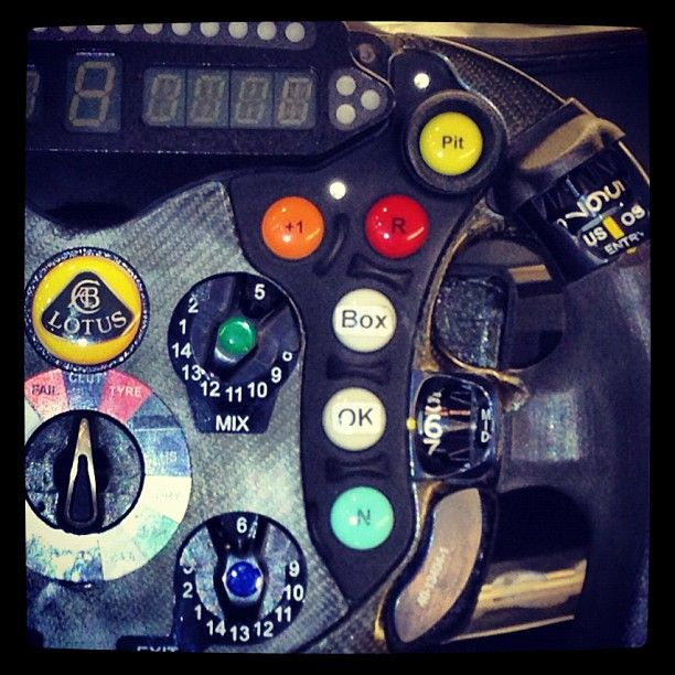 """Steering Wheel detail (Photo by Lucas di Grassi)"""