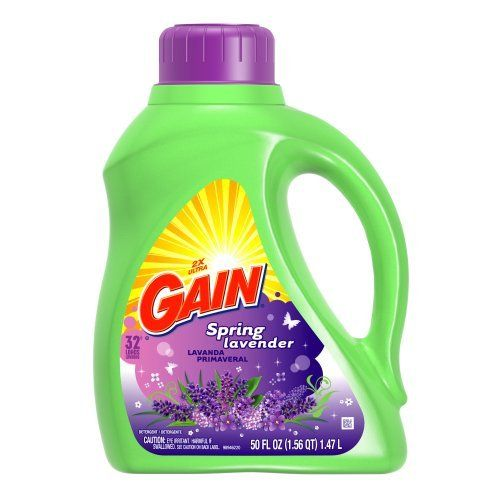 Gain Liquid Detergent with Freshlock, Lavender Scent, 32 Loads, 50-Ounce by GAIN. Save 4 Off!. $11.75. Lavender Scent combines these sniff-tastic elements: Overtones: Soothing lavender with hints of peppermint, chamomile and eucalyptus. Undertones: Jasmine and orange-flower compliment a musky finish.