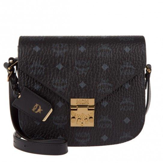 Entdecke MCM Patricia Visetos Shoulder Bag Small Black