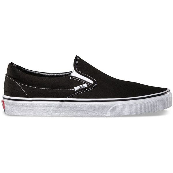 Vans Classic Slip-On Mens Shoes (65 CAD) ❤ liked on Polyvore featuring men's fashion, men's shoes, black, mens rubber shoes, mens slip on boat shoes, mens slip on shoes, mens rubber slip on shoes and mens black boat shoes