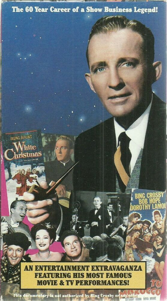 vhs Bing Crosby Hollywood's Greatest Entertainer 60 Year