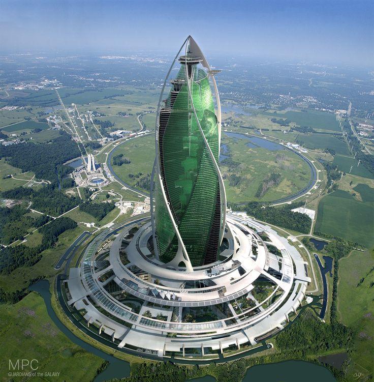 ArtStation - Xandar city - circular building, Gaelle Seguillon