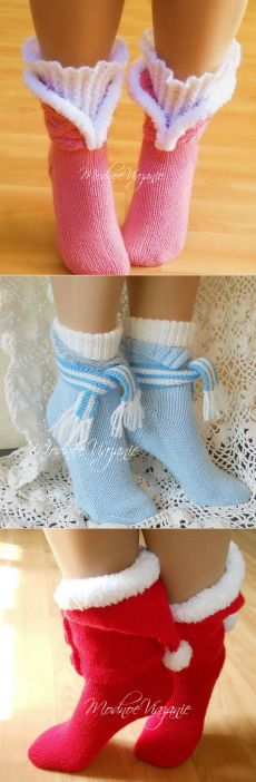 Носки на четырех спицах - Модное вязание