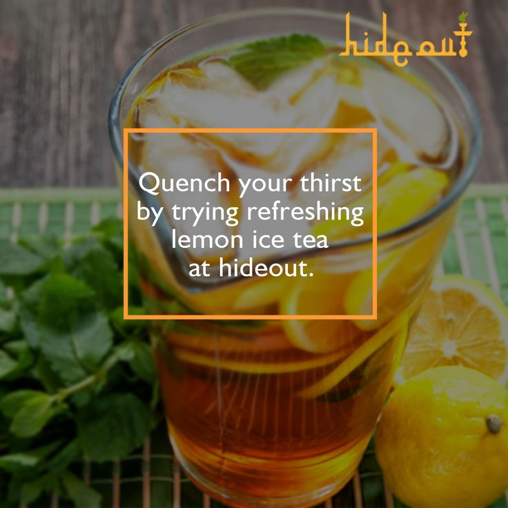 Try refreshing lemon ice tea at hideout. #Celebration #Party #Restaurant #lemonicetea Located at - 10 no. Market & Airport Road
