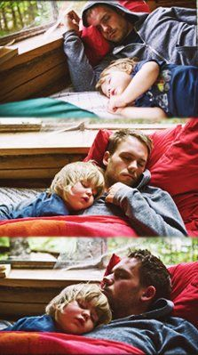 Patrick J. Adams with Gabriel Macht's daughter. This is easily one of the cutest things I have ever seen!