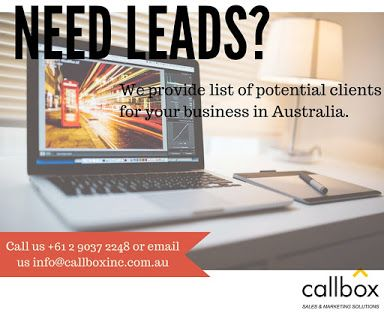 We provide potential leads by generating interest and setting appointments with your target market.