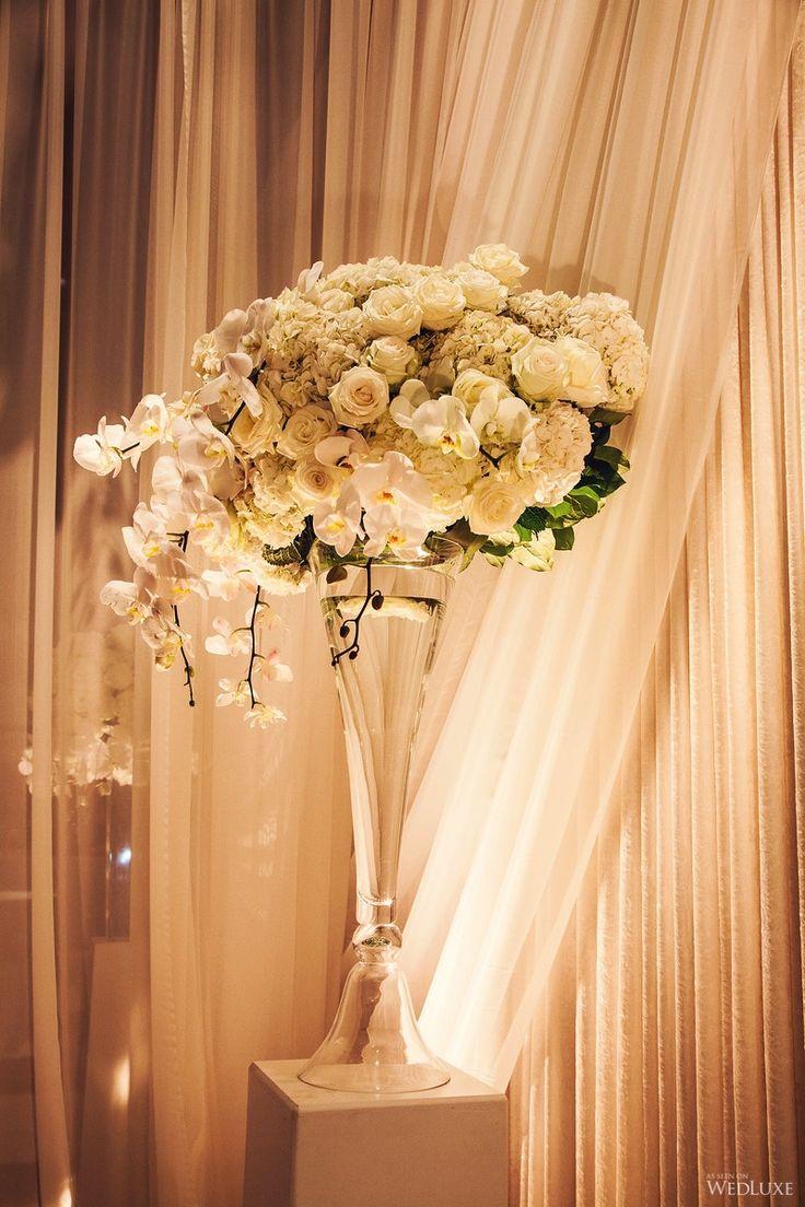 An Elegant White and Silver Wedding   WedLuxe Magazine