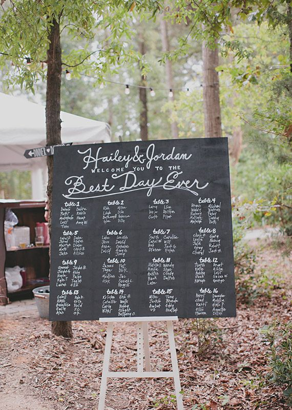 chalkboard seating chart | photos by Nicole Roberts | 100 Layer Cake