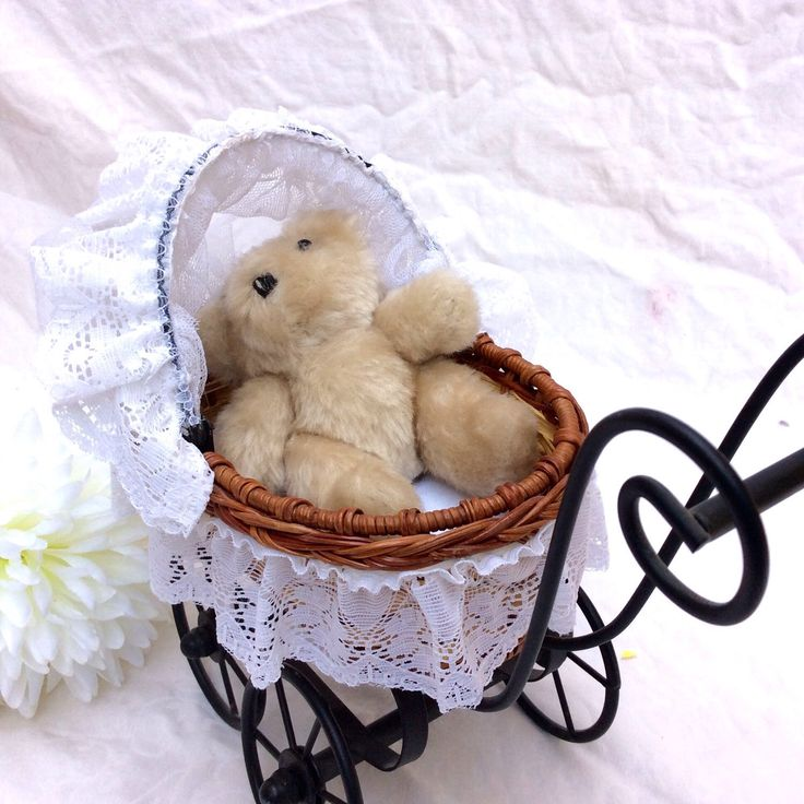 A personal favorite from my Etsy shop https://www.etsy.com/ca/listing/255250125/vintage-wicker-white-lace-doll-pram