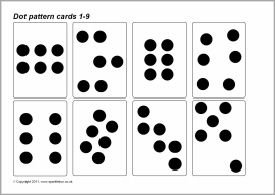 Dot pattern (subitizing) cards 1-9 (SB4825) - SparkleBox