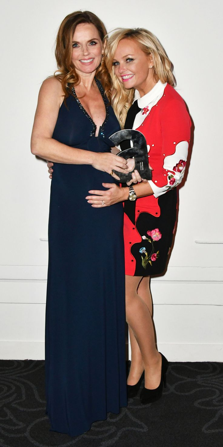 Geri Halliwell Shows Off Her Baby Bump While Having a Mini Spice Girls Reunion with Emma Bunton from InStyle.com