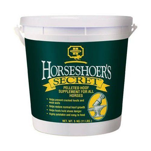Horseshoer's Secret Pelleted Hoof Supplement, 11 Pound by Farnam. $22.49. Helps To Support Normal Hoof Growth. Product Comes In 11 Lb. Tub. Contains Only The Purest and Most Digestible Ingredients. Helps Prevent Cracked Hooves and Strengthen Hoof Walls. Developed Formula To Provide Optimum Nutrition For Strong and Healthy Hooves. Horseshoer's Secret is a highly developed formula to provide optimum nutrition for strong and healthy hooves. Contains only the purest a...