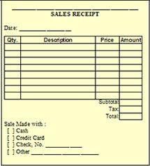 free printable sales receipts