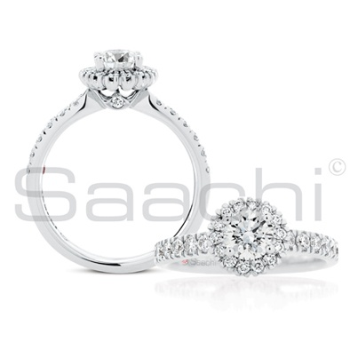 Saachi - round 'Mahina' Diamond Ring - simply Irresistible and a Modern  Design Classic