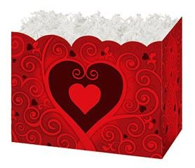 "Large Box Chocolate Hearts 10¼"" x 6"" x 7½""-47156"
