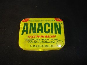 Old-Vtg-Collectible-Anacin-Fast-Pain-Medicine-Tablet-Tin-Container