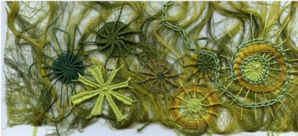 embroidery - whipped and woven wheels