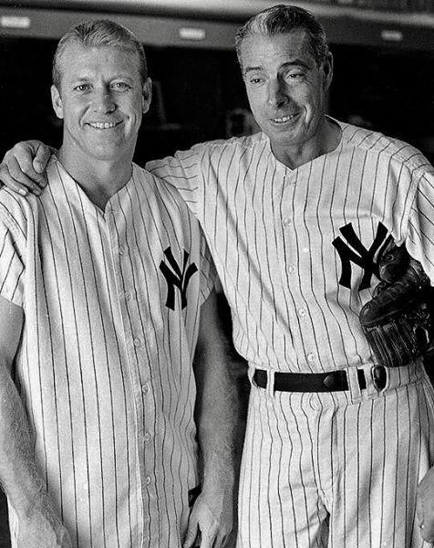 Mickey Mantle and Joe Dimaggio