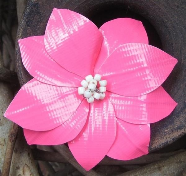 20 Easy Duct Tape Flowers | 101 Duct Tape Crafts: