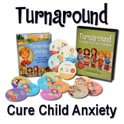 Anxiety Attacks in Children Turnaround You do not have to see your kid wallowing in misery and tuning you out any more.  Anxiety attacks in children have a solution. You and your child have a way out!  Turnaround can make a positive difference in your lives.
