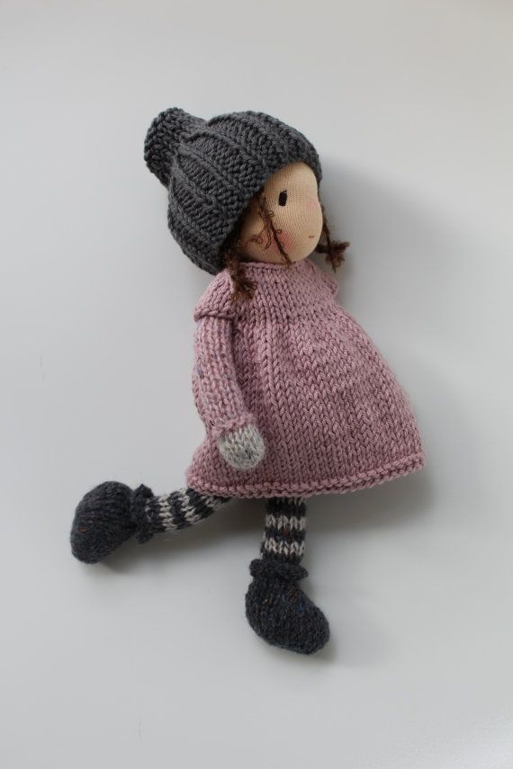 Waldorf doll, Waldorf knitted doll - Robin - Eco doll ( 10 inch / 25 cm), Waldorf toy, Waldorf pop, Fairy, Waldorfpuppe, Elf doll